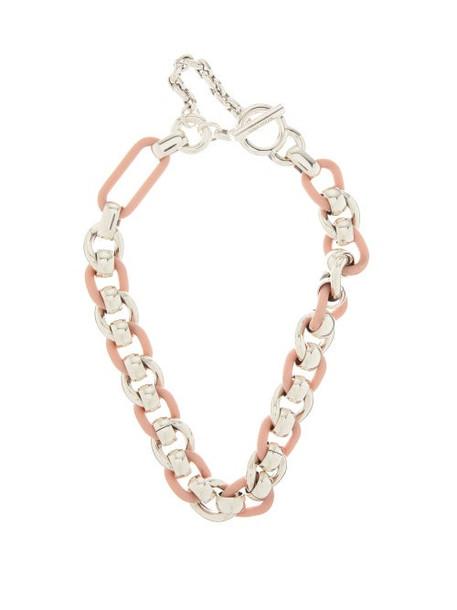 Bottega Veneta - Sterling-silver Chain Necklace - Womens - Silver Multi