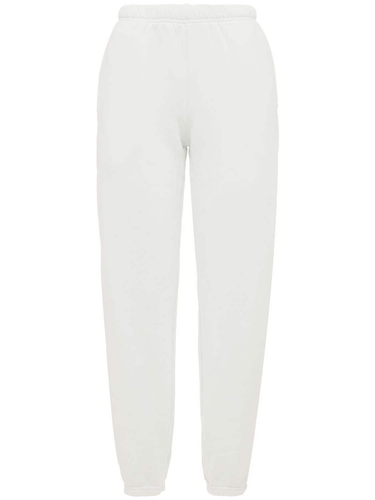 LES TIEN Classic Cotton Sweatpants in blue / grey