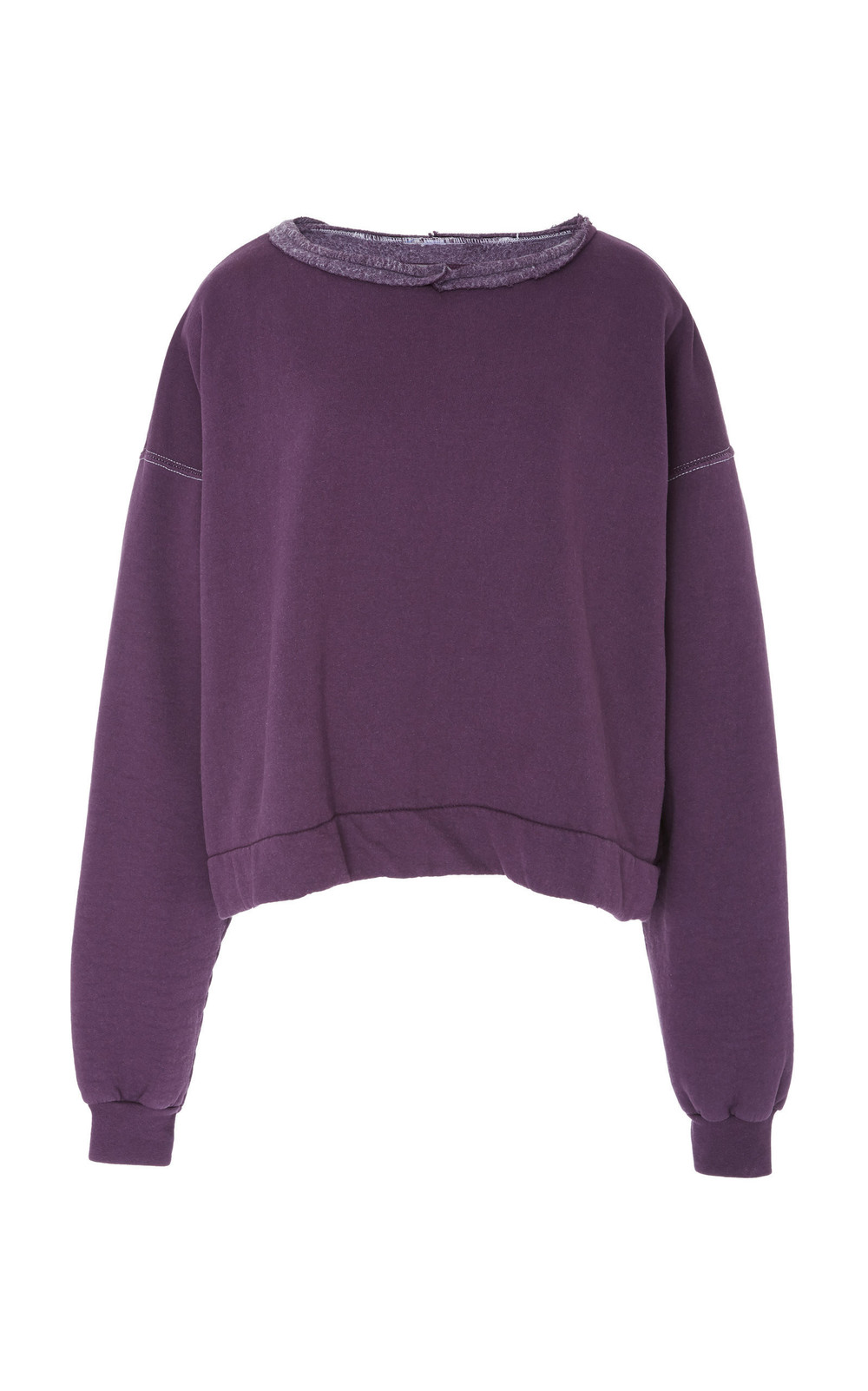 Rachel Comey Mingle Cotton Blend Sweatshirt in purple