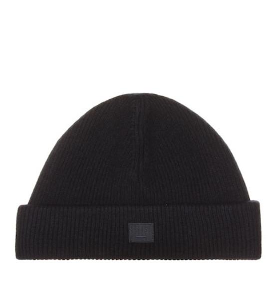 Acne Studios Wool-blend beanie in black