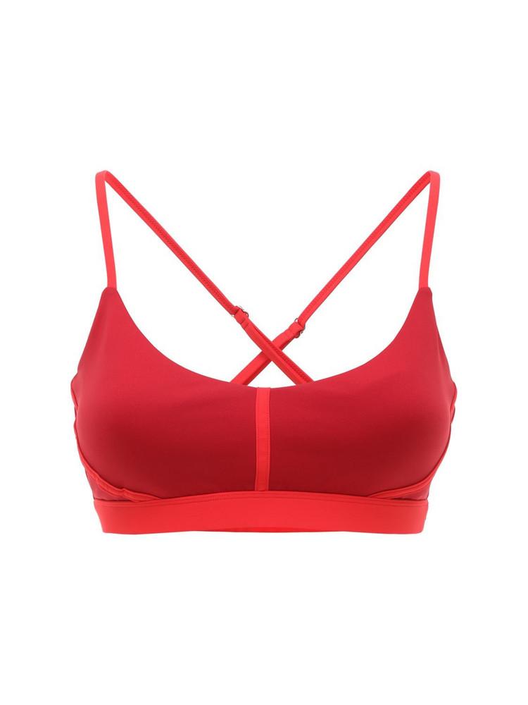 ERNEST LEOTY Corset Bra Top in merlot / red