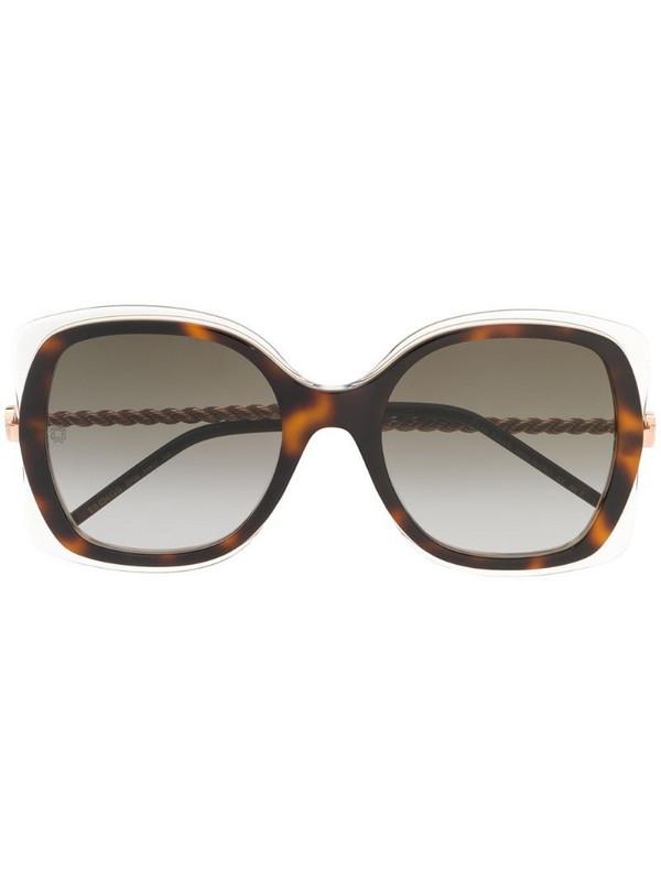 Elie Saab oversized frame sunglasses in brown