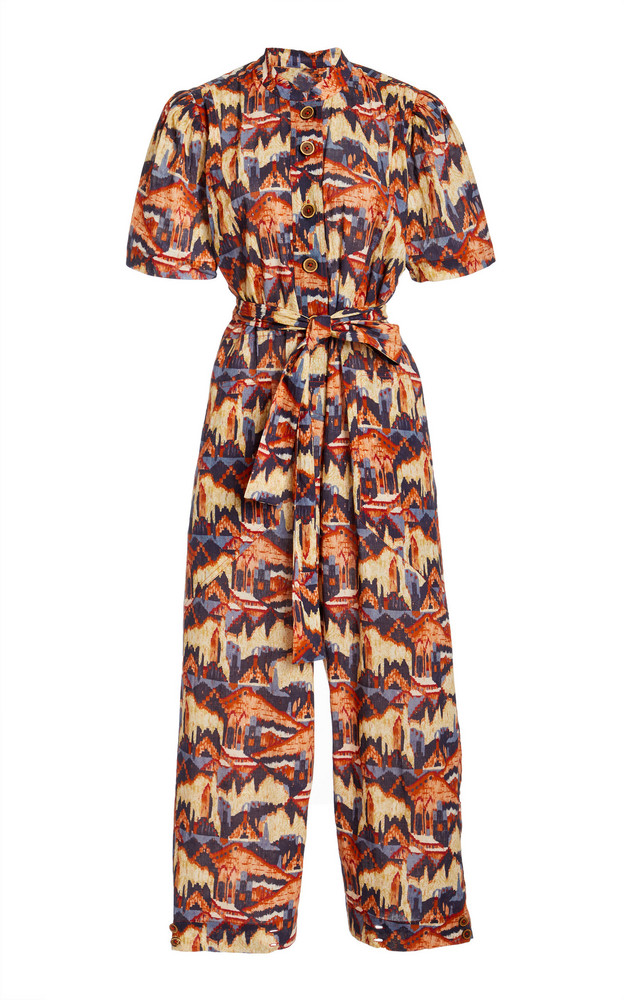 Chufy Urpi Printed Metallic Cotton Voile Jumpsuit in print