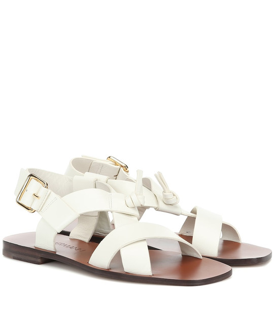 Zimmermann Leather sandals in white