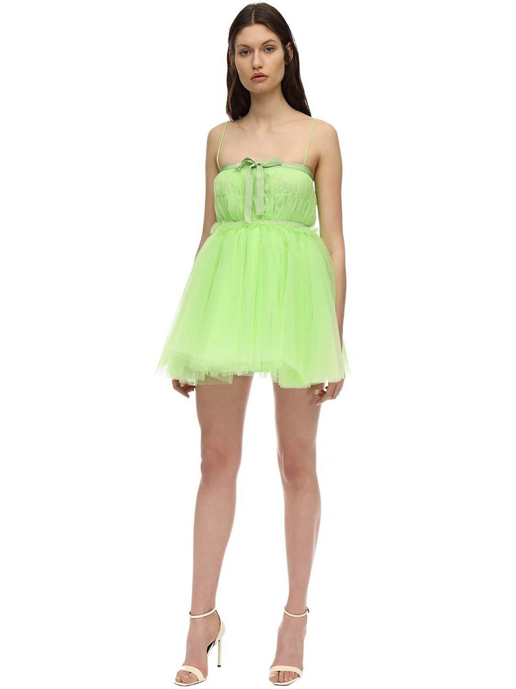 BROGNANO Tulle Mini Dress in green