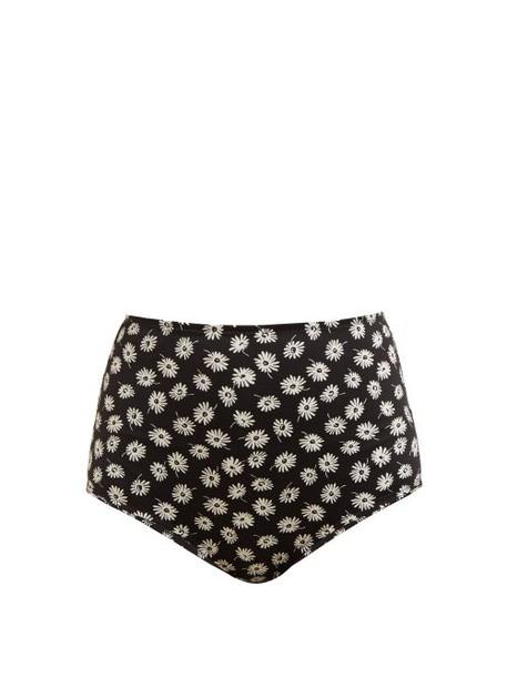 Dodo Bar Or - Jenna High Rise Bikini Briefs - Womens - Black Print