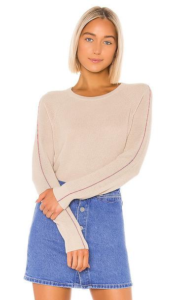 Splendid Pop Stitch Pullover in Tan