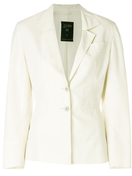 Jean Paul Gaultier Pre-Owned cropped-sleeve fitted jacket in neutrals