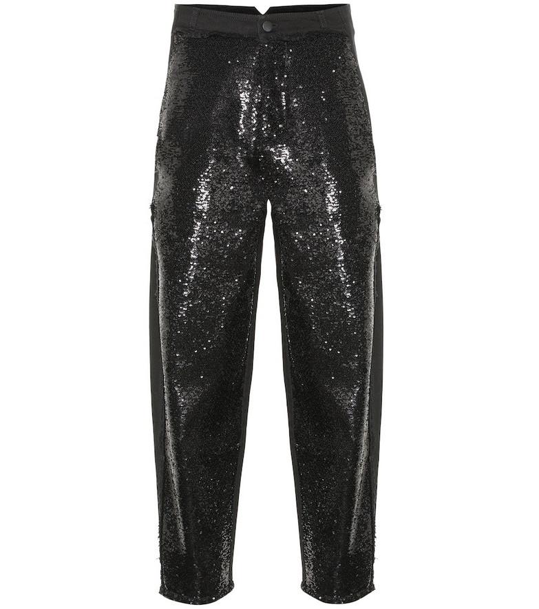 Philosophy Di Lorenzo Serafini Sequined high-rise jeans in black