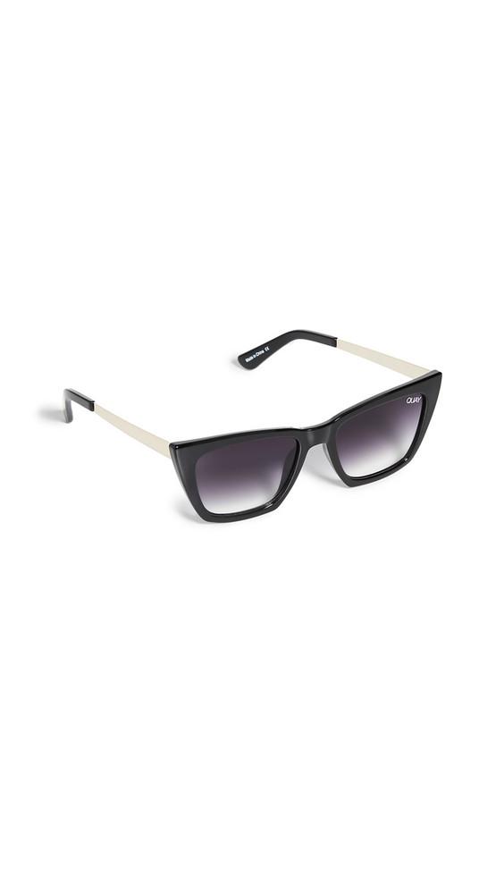 Quay Don't @ Me Sunglasses in black
