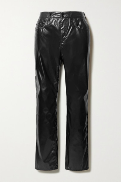MM6 Maison Margiela - Vinyl Straight-leg Pants - Black