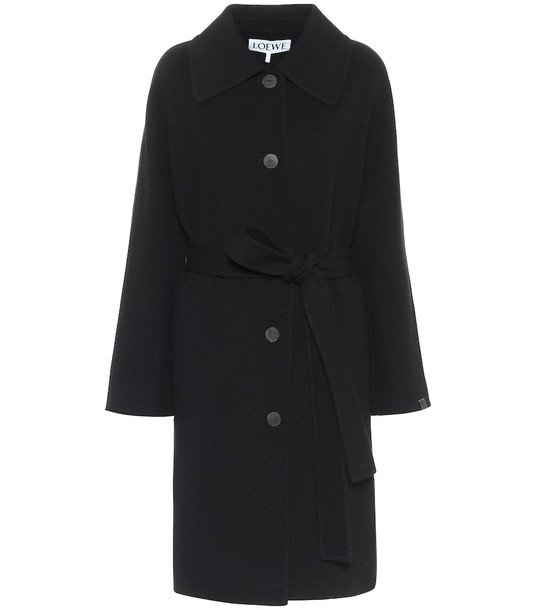 Loewe Wool and cashmere coat in black