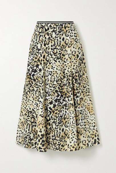 La Ligne - Verushka Leopard-print Silk Crepe De Chine Midi Skirt - Leopard print