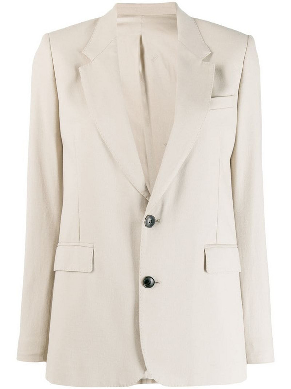 AMI Paris Half-Lined Two Buttons Jacket in neutrals
