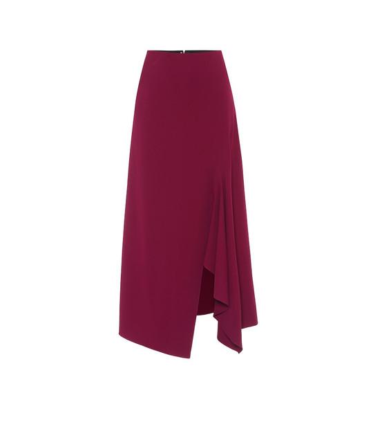 Roland Mouret Whiteleaf stretch-crêpe midi skirt in purple