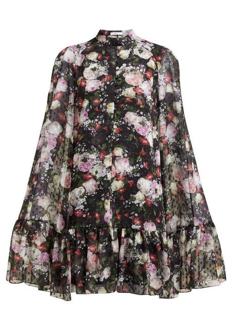 Erdem - Constantine Fil Coupé Floral Print Chiffon Dress - Womens - Black Print