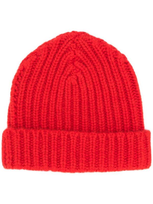 Warm-Me Alex cashmere beanie hat in red