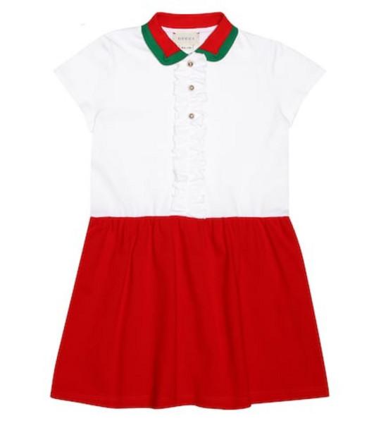 Gucci Kids Cotton piqué dress