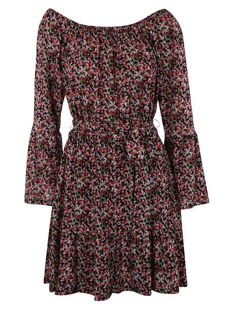 Michael Kors Boat Neck Floral Print Dress