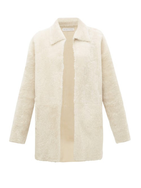 Inès & Maréchal - Gaspard Point-collar Shearling Jacket - Womens - White