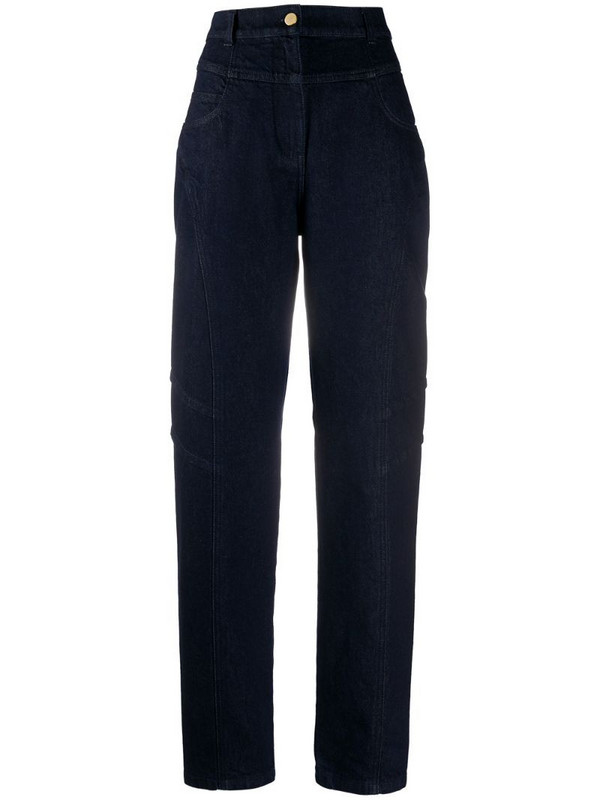 Alberta Ferretti high rise straight-leg jeans in blue