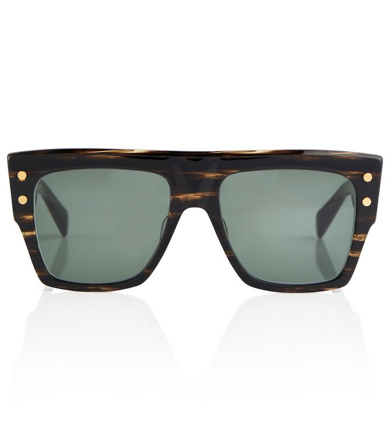 Balmain x Akoni B-I acetate sunglasses in brown