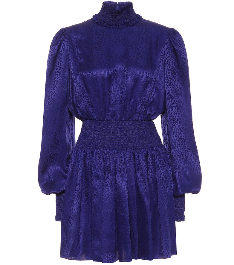 Balmain Silk minidress in blue