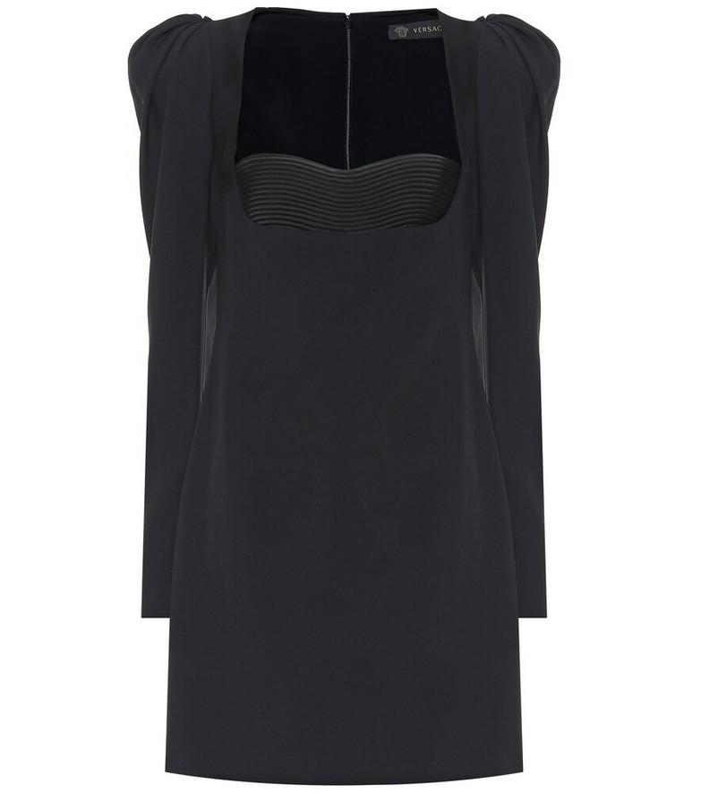 Versace Crêpe minidress in black