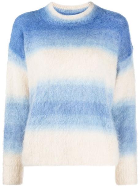 Isabel Marant Étoile Drussell striped ombré-effect jumper in blue