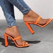 shoes,orange,neon,heels