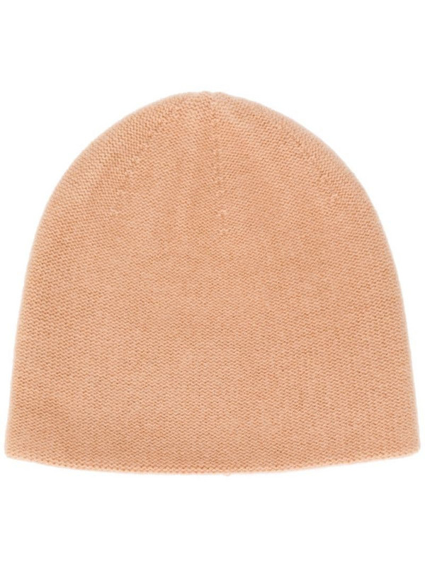 N.Peal double layer knit beanie in brown