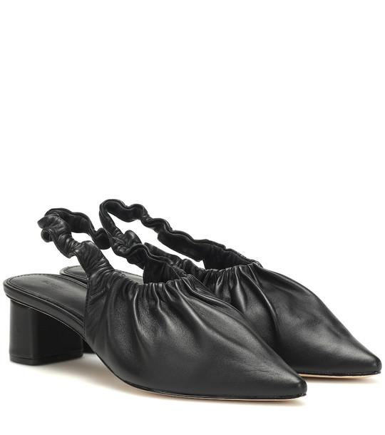 Nanushka Sha slingback leather pumps in black