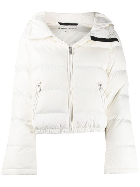 Perfect Moment padded ski jacket in neutrals