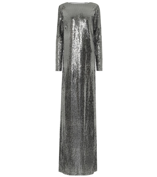 Gucci Metallic jersey gown in silver