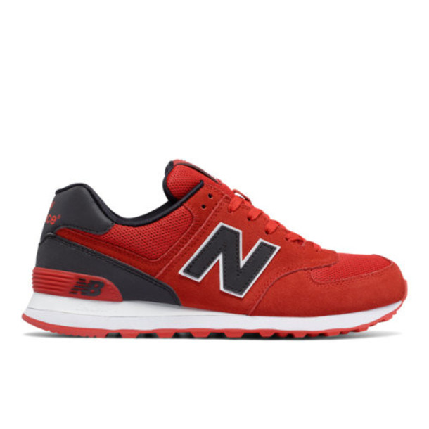 New Balance 574 Reflective Men's 574 Shoes - Red/Black (ML574CND)