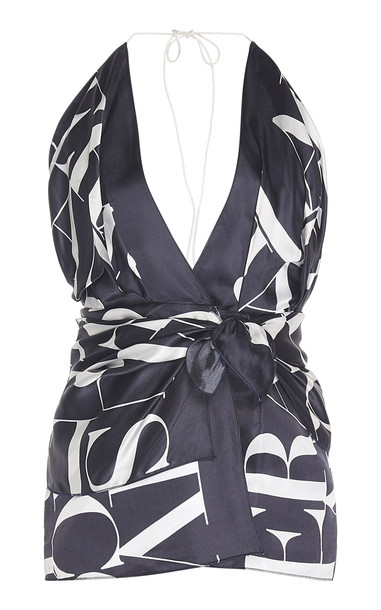 Jacquemus Benaco Satin Mini-Dress in print