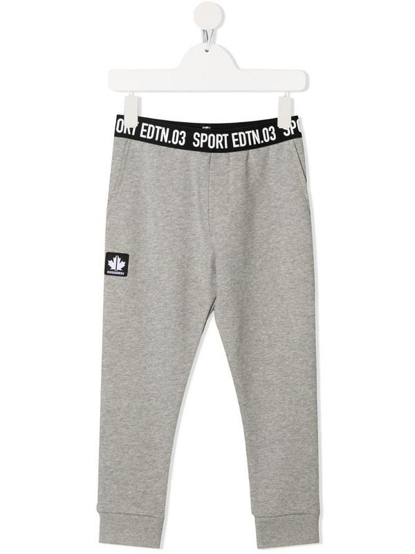 Dsquared2 Kids Sports Edition-print track pants