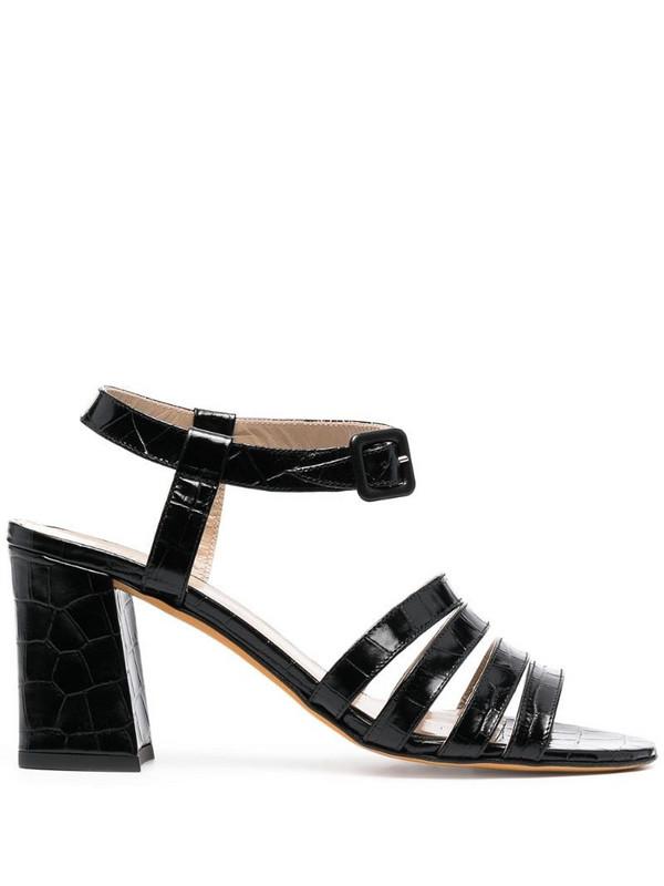 Maryam Nassir Zadeh Palma crocodile-effect sandals in black