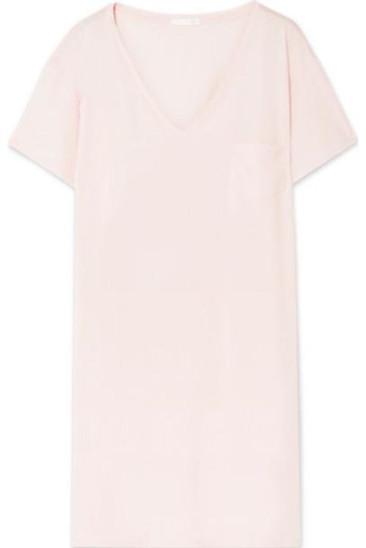 Skin - Skye Pima Cotton-jersey Nightdress - Pastel pink