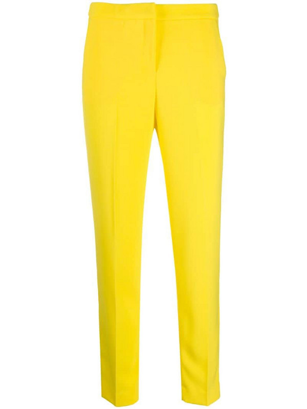 Ermanno Ermanno slim-fit tailored trousers in yellow