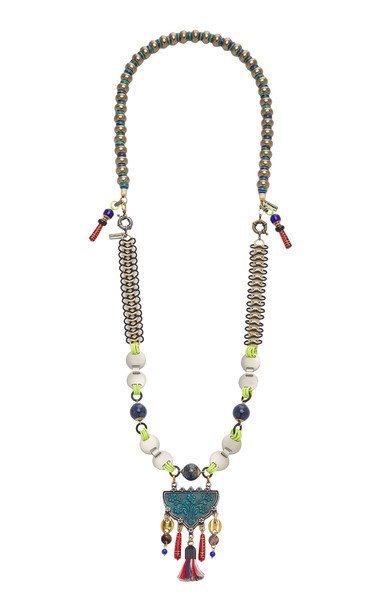 MONTAGEART Lapis Lazuli and Murano Glass Necklace in multi