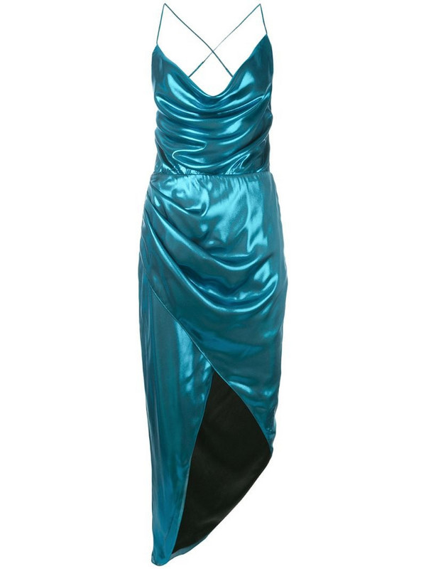 Haney Holly asymmetric dress in blue