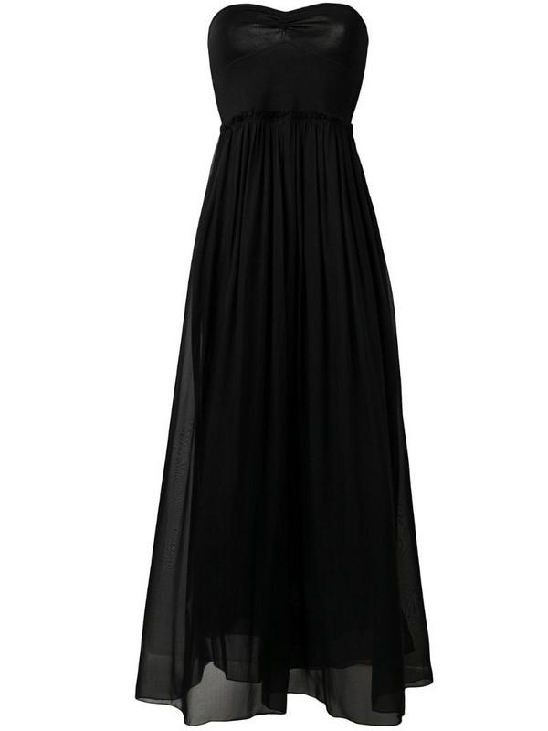 Forte Forte strapless flared dress in black