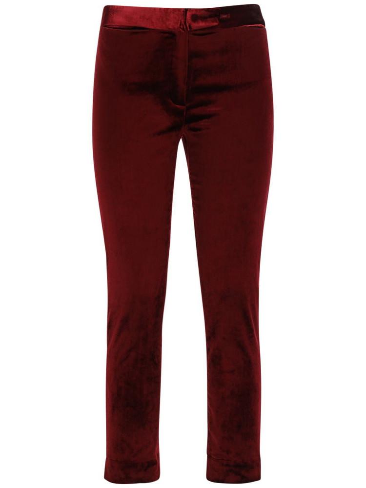 ANN DEMEULEMEESTER Satin Cotton Straight Pants