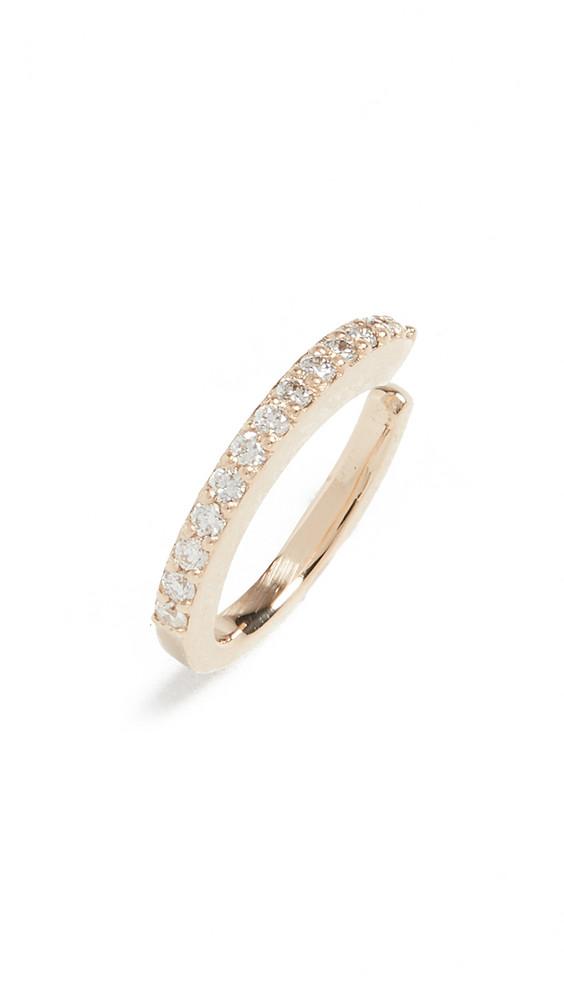 LANA JEWELRY Half Pair Diamond Ear Cuff in gold / yellow
