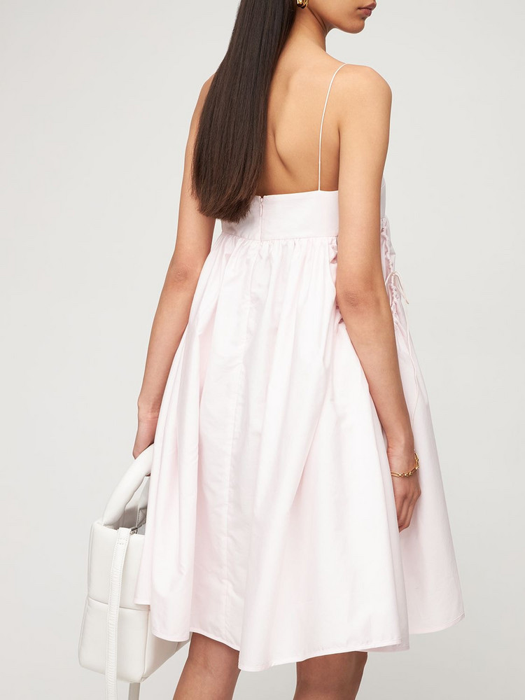 CECILIE BAHNSEN Lisbeth Organic Cotton Mini Dress in pink