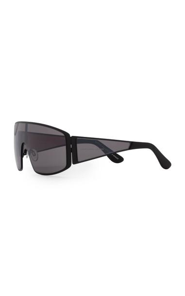 Carolina Lemke x Kim Kardashian West Gemini D-Frame Acetate Sunglasses in black