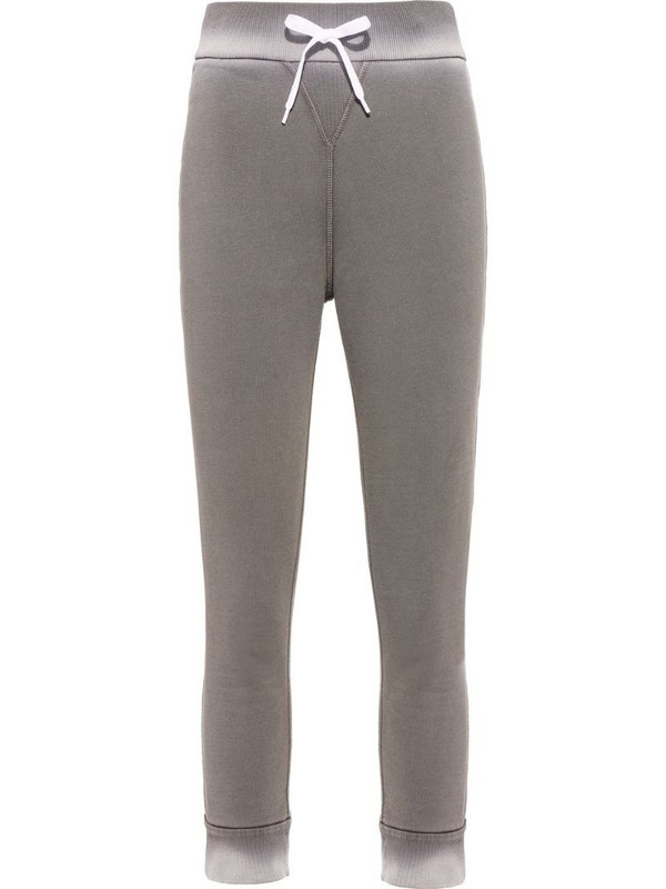 Miu Miu dyed cropped track pants in grey