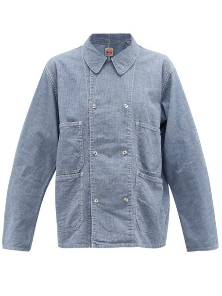 Chimala - Double-breasted Cotton Jacket - Womens - Light Blue