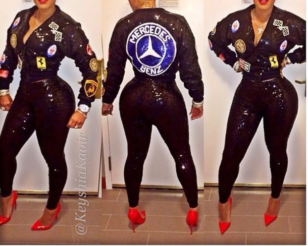 jacket sequins leggings